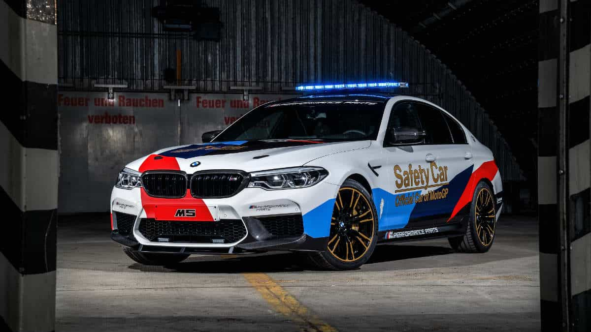 The new BMW M5 MotoGP Safety Car.