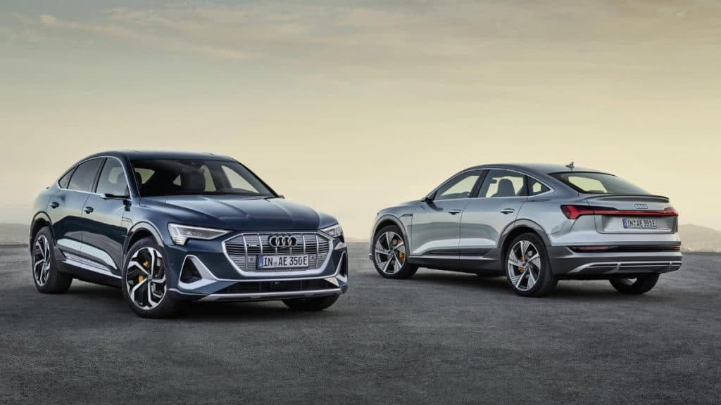SUV COUPE ELECTRIC CAR AUDI E TRON SPORTBACK